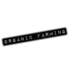 Organic farming rubber stamp vector