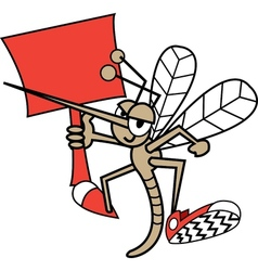 Childrens mosquito cartoon vector