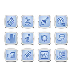 application icon set vector image