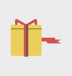 Flat icon of gift box black friday surprise inside vector