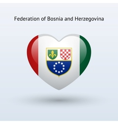 Love federation of bosnia and herzegovina symbol vector