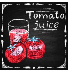 Hand drawn tomato tomato juice vector