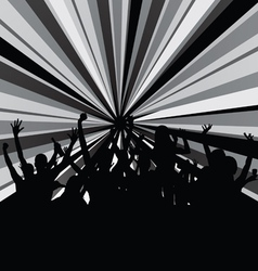 party people silhouette vector image