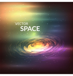 Starry background of stars and nebulas in deep vector
