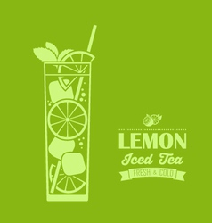 Lemon iced tea background vector
