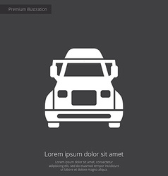 Truck premium icon vector