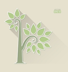 Abstract tree on brown background vector