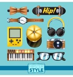 Hipster Elements Set vector image