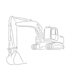 Outline of excavator vector