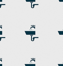 Washbasin icon sign seamless abstract background vector