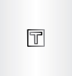 Letter t black sign symbol vector