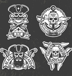 Pirate skull stickers vector
