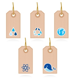 Collection of blank recycle and water label vector