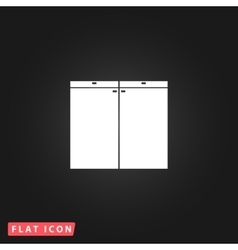 Cabinet flat icon vector