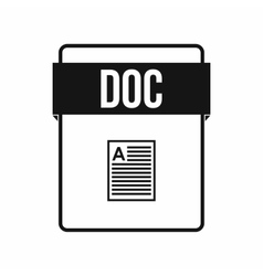 Doc file icon simple style vector