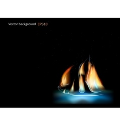 abstract fire ship vector image
