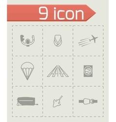 Airplane icon set vector image