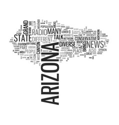 Arizona text word cloud concept vector