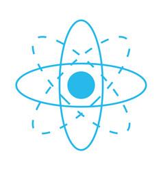 atom science symbol vector image vector image