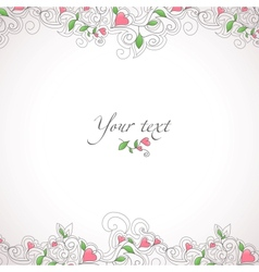 Card template with hearts vector image vector image