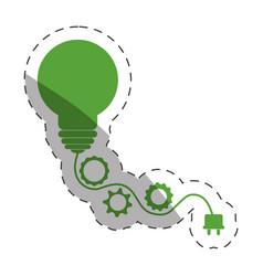 Environment bulb gears plug vector