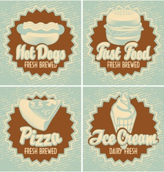 Fast food brewed vector