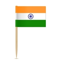 Flag of India toothpick vector image vector image