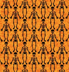 Halloween skeleton pattern vector