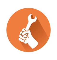 hand with wrench vector image