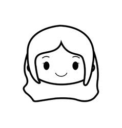 happy girl character avatar vector image