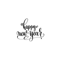 happy new year hand lettering congratulation vector image