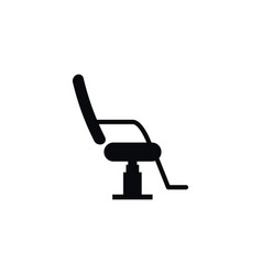 isolated chair icon interior element can vector image vector image