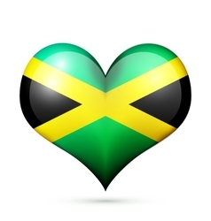 Jamaica Heart flag icon vector image vector image