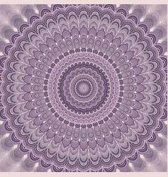 Light purple bohemian mandala fractal background vector