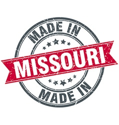 Made in missouri red round vintage stamp vector