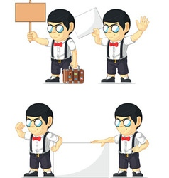 Nerd boy customizable mascot 16 vector