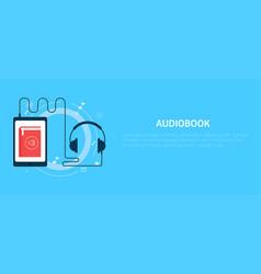 online audiobook banner vector image vector image