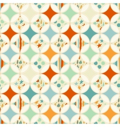 Overlapping circles seamless pattern vector