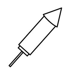 Rocket firework celebration icon vector