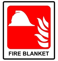 Signs of fire blanket sign vector image