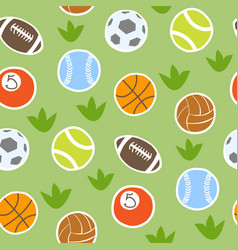 Sport balls isolated collection seamless vector