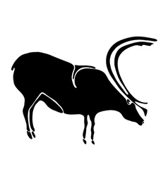 Tattoo of a deer vector image