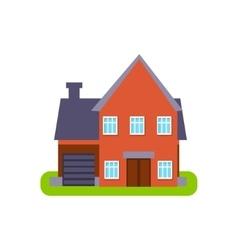 Terracota Suburban House Exterior Design With vector image vector image