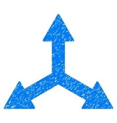 Triple arrows grainy texture icon vector