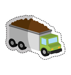 truck vehicle isometric icon vector image vector image