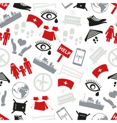 various simple refugees theme icons set seamless vector image vector image