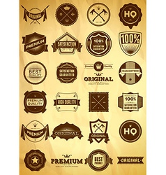 Vintage labels big collection 1 vector