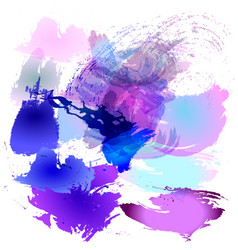 Watercolor brush strokes of vector