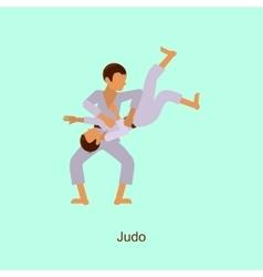 Sport people activities icon Judo vector image