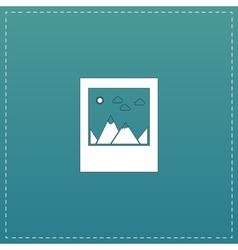 Photo landscape web icon vector